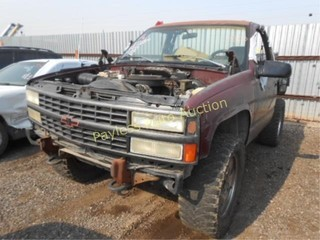 1993 Chevrolet Blazer 1GNEK18K3PJ346826 Maroon