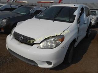 2008 Toyota Matrix 2T1KR32E68C696177 White
