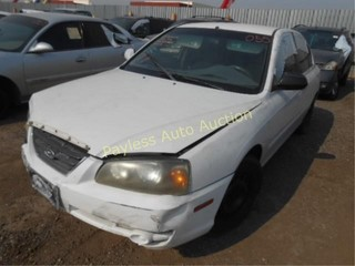 2004 Hyundai Elantra KMHDN46D74U906323 White