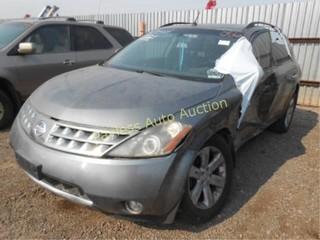 2007 Nissan Murano JN8AZ08T97W527829 Gray