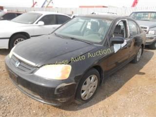 2001 Honda Civic 2HGES267X1H529969 Black