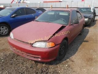 1994 Honda Civic 1HGEG865XRL000698 Red
