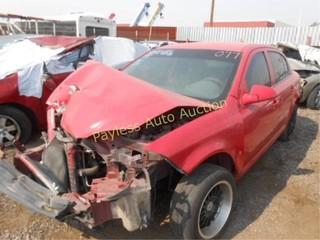 2007 Chevrolet Cobalt 1G1AL55F977260820 Red