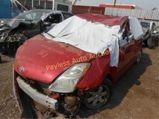 2007 Toyota Prius JTDKB20U377597860 Red