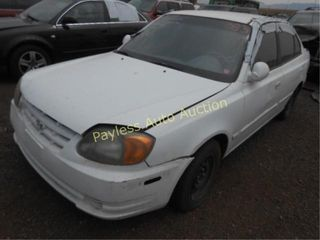 2005 Hyundai Accent KMHCG45C15U586481 White