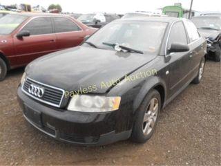 2002 Audi A4 WAULT68E12A137756 Black