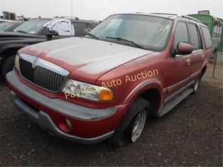 1999 Lincoln Navigator 5LMPU28A5XLJ42972 Red