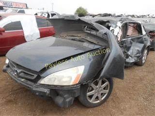 2003 Honda Accord 1HGCM66833A057522 Gray