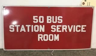 Porcelain Bus Station Sign