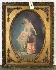 1940s Schlitz Beer Golden Classic Poster and Frame