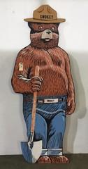 6' Wooden Smokey Bear Sign