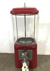 Early Coin Operated Gum Ball Dispenser