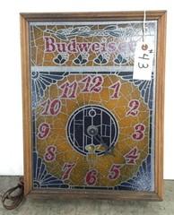 Lighted Budweiser Clock