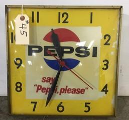 Light Up Pepsi Clock
