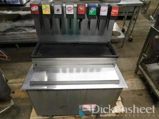 Lancer (8) head soda dispenser w/ cold plate ice