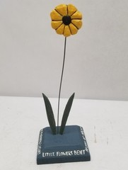 Paine Signed Folk Art Flower Carving