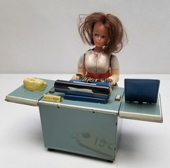 "Vintage ""Miss Friday"" Tin Secretary Toy"