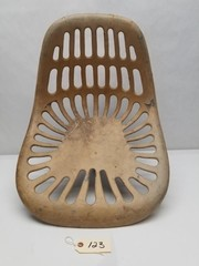 Vintage Painted Aluminum Implement Seat