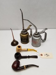 Vintage Oilers and Tobacco Pipes