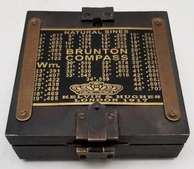 Antique 1917 Wm. Brunton Compass