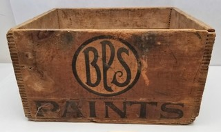 Primitive BPS Paints Wooden Dovetailed Crate