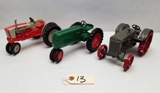(3) Vintage Diecast Tractors