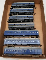 (3) HO Scale B&O Locomotives and (4) Cars