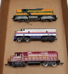(3) HO Scale Locomotives