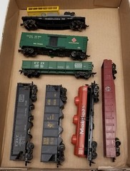 (7) HO Scale Model Train Cars
