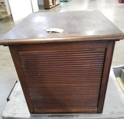 Vintage Wooden Scroll Front Cabinet