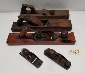 (5) Vintage Wood Planes