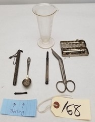 Vintage Medical Supplies and Sterling Items