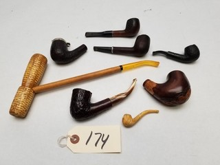 (8) Vintage Tobacco Pipes and Parts