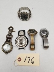 (5) Vintage Men's Wrist and Pocket Watches