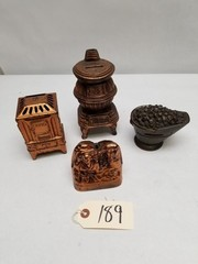 (4) Assorted Cast Aluminum Toy Banks