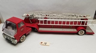 Vintage Tonka T-F-D Hook-and-Ladder Fire Truck