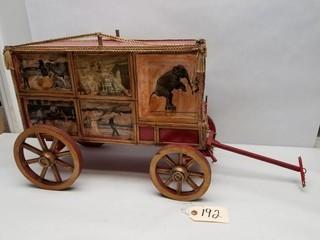 Vintage Handmade Wooden Circus Wagon