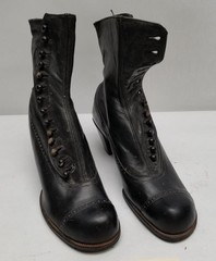 Antique Ladies Leather High Top Shoes