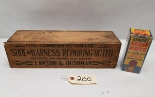 Wooden Shoe & Harness Repair Box and Supplies