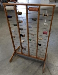 Primitive Wooden Spool Rack