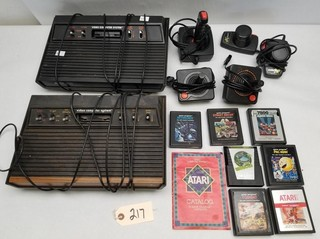(2) Atari Game Systems and more
