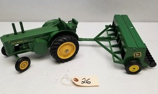 ERTL John Deere Model 80 Tractor and Seeder