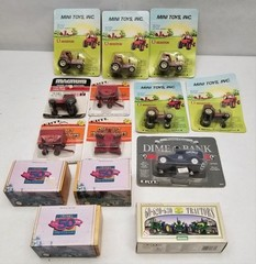 (14) Miniature ERTL and Hesston Tractors