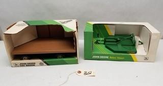 ERTL John Deere Rotary Mower & Hay Wagon