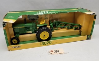 ERTL 1964 3020 Tractor with Plow