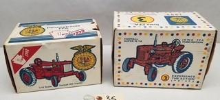 ERTL FFA 1992 and 1993 Farmall Tractors