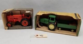 (2) ERTL John Deere Tractors