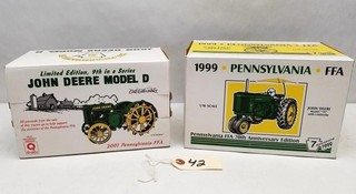 ERTL 1999, 2001 PA FFA Collectible Tractors