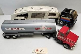 (2) Vintage Toy Trucks