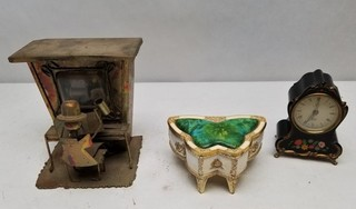 (3) Vintage Musical Boxes & Music Box Alarm
